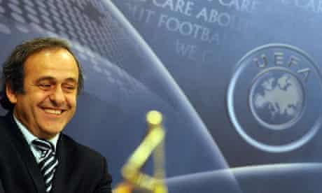 The Uefa president Michel Platini