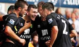 Robert Snodgrass, centre, celebrates with team-mates
