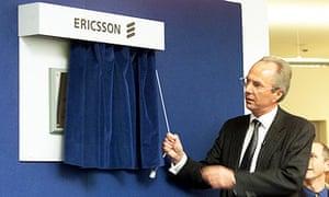 Sven-Goran Eriksson opening something or other in Basingstoke in 2001