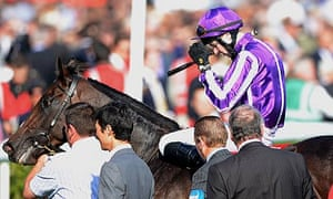 Camelot and his jockey Joseph O'Brien after their defeat in the St Leger