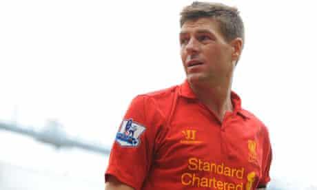 The Liverpool captain Steven Gerrard
