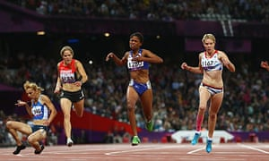 Great Brittain's Bethany Woodward in the Paralympics 2012 200m T37 final