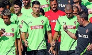 Cristiano Ronaldo at Portugal training