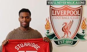 Daniel Sturridge completes his transfer to Liverpool