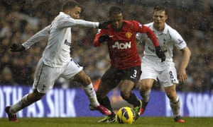 Aaron Lennon and Patrice Evra