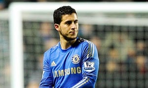 Chelsea's Hazard is sent off for kicking a ballboy