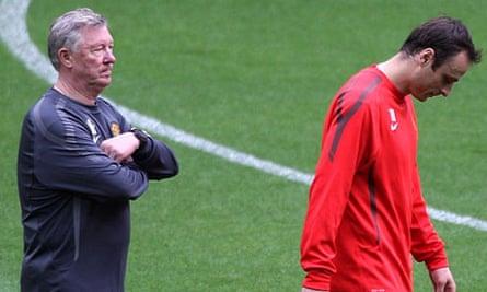 Dimitar Berbatov and Sir Alex Ferguson
