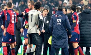 Juventus coach Antonio Conte at the centre of the post-match controversy