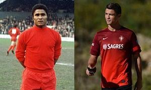 Eusebio and Cristiano Ronaldo