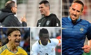 Martin O'Neill and Roy Keane, Franck Ribery, Zlatan Ibrahimovic and Asamoah Gyan