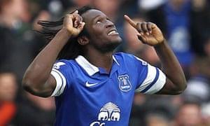 Romelu Lukaku, Everton's on-loan striker