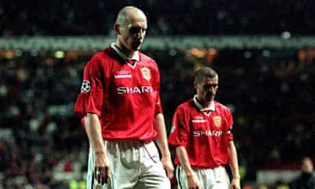 Jaap Stam and Roy Keane
