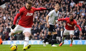 Wayne Rooney scores with a penalty