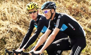 Bradley Wiggins and Chris Froome during the 2012 Tour de France.