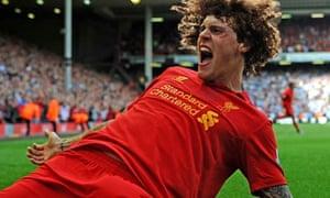 Martin Skrtel with David Luiz's hair