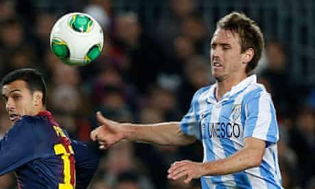Malaga defender Nacho Monreal