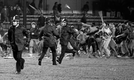 Millwall fans riot in 1985 after their team lost 1-0 at Luton Town in their FA Cup quarter-final