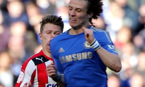 David Luiz collides with Jake Reeves