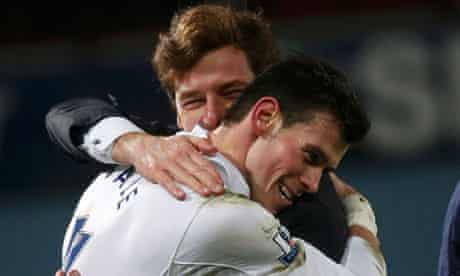 Gareth Bale hugs manager André Villas-Boas