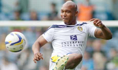 El Hadji Diouf in action for Leeds United