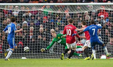 Chelsea's Ramires equalises past Manchester United's David De Gea in their FA Cup quarter-final