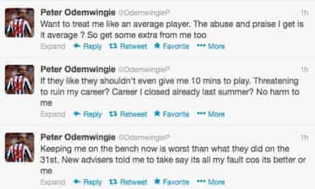 Peter Odemwingie's Twitter feed