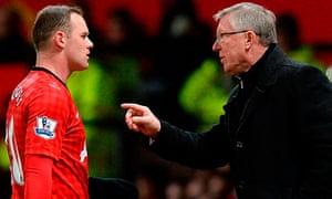 Wayne Rooney, left, and Sir Alex Ferguson