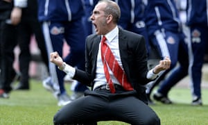 Paolo Di Canio slides on his knees