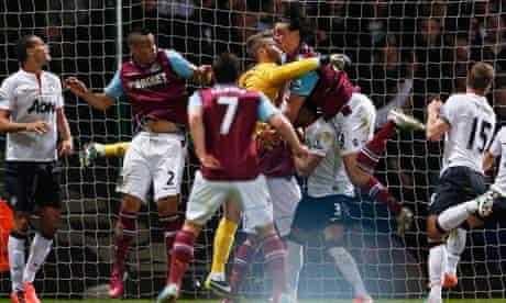 David de Gea (Manchester United) and Andy Carroll (West Ham)