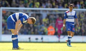 Reading's Pavel Pogrebnyak and Nick Blackman are left dejected after Norwich City's second