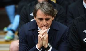 Manchester City fans sang Roberto Mancini's name at Wembley as a form of protest against the owners