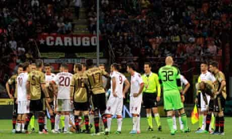 Milan and Roma players