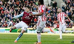 Matthew Lowton scores against Stoke
