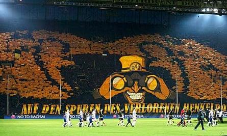 Borussia Dortmund S Banner Plans Blocked By Wembley Red Tape Borussia Dortmund The Guardian