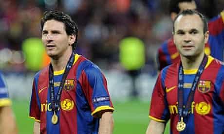 Lionel Messi Andrés Iniesta Barcelona
