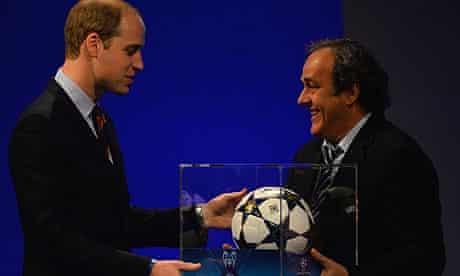 Duke of Cambridge Michel Platini