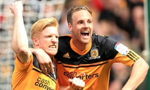 Hull City's Paul McShane celebrates