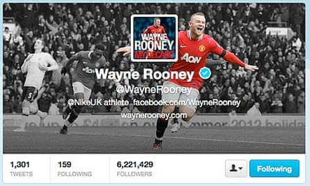Wayne Rooney's Twitter page