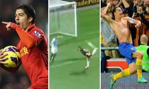The European goal of the season top three for 2012-13
