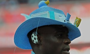 33da903709b Mario Balotelli wears a hat following Manchester City s victory over Stoke  during the 2011