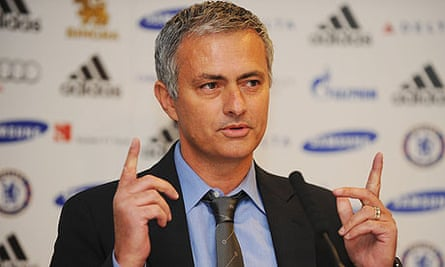 Jose Mourinho at a Chelsea press conference