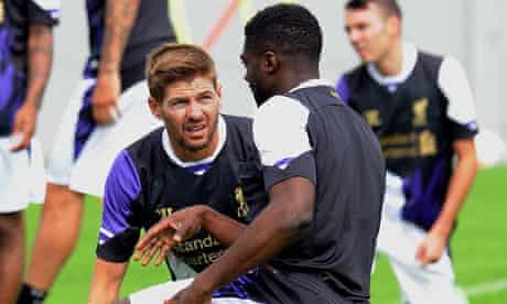 Steven Gerrard, left, and Kolo Touré of Liverpool