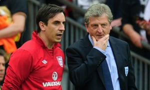 Gary Neville, left, and Roy Hodgson