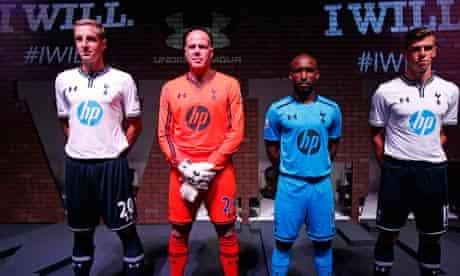 Michael Dawson and Tottenham team-mates unveil their new kits for the season