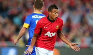 Jesse Lingard of Manchester United celebrates after scoring his second goal