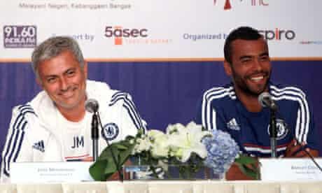 José Mourinho and Ashley Cole