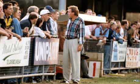 Harry Redknapp chats to Steve Davies in the crowd at Oxford
