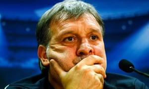 Barcelona's coach Gerardo Martino