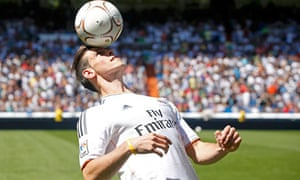 Gareth Bale at his Real Madrid unveiling