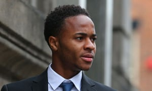 Raheem Sterling arriving at Liverpool magistrates court